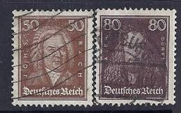 Allemagne Empire YT 388 (Bach) Et 389 (Durer) Oblitérés - Duitsland
