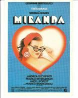 CINEMA CARTONCINO PUBBLICITARIO FILM -  MIRANDA - TINTO BRASS  - DESCRIZIONE SUL RETRO - Cinema Advertisement