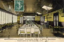 78-Carrières-sous-Poissy-  Restaurant  Hublet...J.HAYET. Grand Salon De 130 Couverts   1909. - Carrieres Sous Poissy