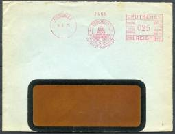 1935 Germany Lustringen Schoeller Feinpapierfabrik Freistempel Brief - Deutschland