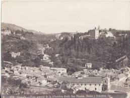 Photo Ancienne 21cm X 16 Cm Sur Papier Ordinaire N° 372  Granada Vista General De La Alhambra Desde San Nicolas. - Photographie