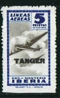 Pro Montepio IBERIA  5 Ptas  Sobrecarga TANGER ** - Wohlfahrtsmarken