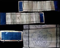 Livre D´astrologie Médecine Tatouage Birman / Vintage Astrological Medecine Tatoo Book From Burma - Manuscrits
