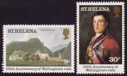 ST. HELENA ISLAND 1980 Duke Of Wellington Visit Ann. 2v MNH [S3942] - Saint Helena Island