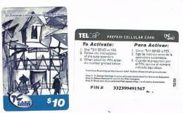 ST MAARTEN (ST. MARTIN) - TEL CELL  (GSM RECHARGE) - JOE DOMINIQUE'S INTERPRETATION  COURT HOUSE (BLUE) - USED-RIF.968 - Antilles (Neérlandaises)