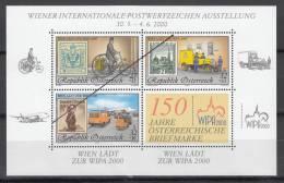 Specimen, Austria ScB370a Intl. Stamp Exhib. Bicycle, Plane, Mail Truck - Sellos Sobre Sellos