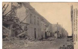 Nieuport Cpa La Rue Longue Après Un Bombardement Belgique 1 ère Guerre Ww1 1914 1918 - Belgique