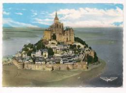 Cp , 50 , LE MONT SAINT MICHEL , La France Vue Du Ciel , Vue Aérienne D´ensemble , Voyagée1967 - Le Mont Saint Michel