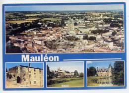 MAULEON--1987---Vues Diverses- Vues Générales--Chateaux Cpm N°1 éd Artaud--flamme Vison-Cuir 87 à Mauléon - Mauleon