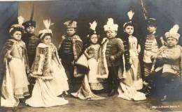 Carte Photo.Troupe De Théâtre.Liliput.1912.Voir Au Dos. - Teatro