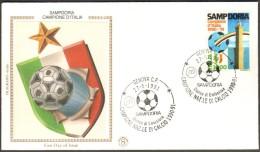 Fdc Filagrano Gold 1991 Sampdoria Campione As Genova No Venetia - 6. 1946-.. Republic