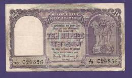 INDIA 1962,  Banknote, USED VF, 10 Rupees, Signed Bhattacharyya,  Km 40 - India