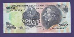 URUGUAY 1975,  Banknote , UNC, 50 Nuevos Pesos Km 59 - Uruguay