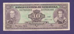 VENEZUELA 1986  ,  Banknote , USED VF, 10 Bolivares - Venezuela