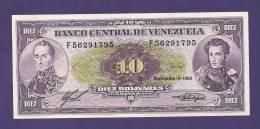 VENEZUELA 1988 ,  Banknote , UNC, 10 Bolivares - Venezuela