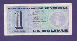 VENEZUELA 1989,  Banknote , USED VF, 1 Bolivares - Venezuela