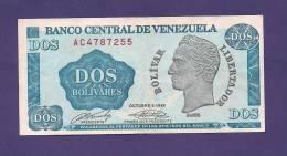 VENEZUELA 1989,  Banknote , USED VF, 2 Bolivares - Venezuela
