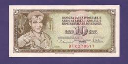 YUGOSLAVIA 1978  Banknote , USED VF, 10 Dinara, Km 87 - Yugoslavia