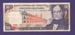 VENEZUELA 1988,  Banknote , USED VF, 50 Bolivares - Venezuela
