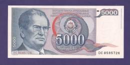 YUGOSLAVIA 1985,  Banknote , UNC, 5.000 Dinara, President Tito, Km 93 - Yugoslavia
