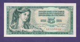 YUGOSLAVIA 1968,  Banknote , UNC, 5 Dinara,  Km 81a - Yugoslavia