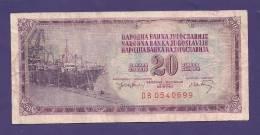 YUGOSLAVIA 1978,  Banknote , USED FINE, 20 Dinara,  Km 88 - Yugoslavia