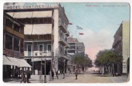 AFRICA EGYPT PORT SAID BOULEVARD OF PORT HOTEL CONTINENTAL LICHTENSTERN & HARARI CAIRO Nr. 109 OLD POSTCARD - Port Said