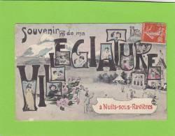 CPA -  89 - NUITS SOUS RAVIERES  - Carte Fantaisie  -Souvenir De Ma Villégiature à Nuits Sous Ravières - France