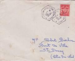 MARCOPHILIE MILITAIRE BATEAU DE GUERRE  LE JEAN BART  MARINE POUR ST DONNAN 22 MR BOSCHER - 1961-....
