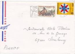 1976,  CENTRAFRIQUE,  LETTRE, BANGUI Pour La FRANCE ,  BOIS U.I.T./ 2653 - Zentralafrik. Republik