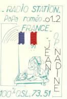 Carte Qsl ,station Papa Romeo,operateur Jean Et Nadine - Radio