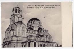 EUROPE BULGARIA SOPHIA CHURCH ST. ALEXANDRE NEVSKI OLD POSTCARD - Bulgaria