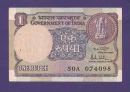 INDIA 1980,  Banknote, USED VF, 1 Rupee Signed Malhotra  Km 78a - India