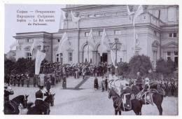 EUROPE BULGARIA SOPHIA THE KING LEAVING THE PARLIAMENT OLD POSTCARD - Bulgaria