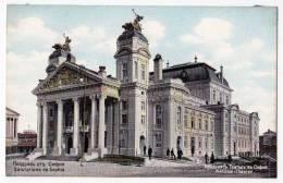 EUROPE BULGARIA SOPHIA THE NATIONAL THEATRE OLD POSTCARD - Bulgaria