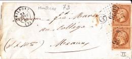 Trilport N°13 Type II Oblt Gros Chiffre 4026b, TB Frappe, Boite Rurale G De Montceau Janvier 1863 - Postmark Collection (Covers)
