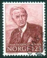 Norwegen  1979  Johan Falkberget (Schriftsteller)  (1 Gest. (used))  Mi: 797 (0,50 EUR) - Norvège