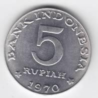 @Y@  INDONESIE  5 RUPIA 1970   UNC  ( C129 ) - Indonésie