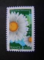 OBLITERE FRANCE ANNEE N° 673 2012 SERIE DITES LE AVEC DES FLEURS MARGUERITE AUTOCOLLANT ADHESIF - France