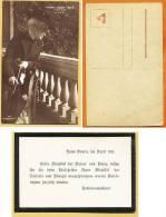 A1398) Ansichtskarte Kaiserin Auguste Victoria Und Original-Trauermitteilung Zum Tode Der Kaiserin
