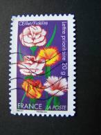 OBLITERE FRANCE ANNEE 2012 N° 667 SERIE DITES LE AVEC DES FLEURS OEILLET AUTOCOLLANT ADHESIF - France