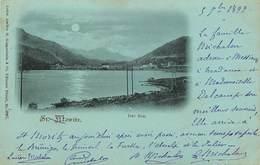 Suisse - Swiss - Schweiz - Grisons - Pionnières - Pionnière - St Moritz - Saint Moritz - Der See - Circulé En 1899 -état - GR Grisons