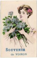 Souvenir De VOIRON, Fantaisie Femme Et Fleurs - Voiron