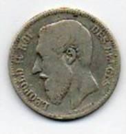 BELGIQUE 2F LEOPOLD II 1866 - 08. 2 Francs