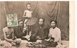Carte Postale/ Indo-Chine Française/Viet Nam/Le Repas / Hanoï/ 1913        A67 - Viêt-Nam