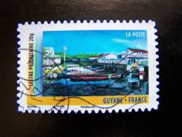 OBLITERE FRANCE ANNEE 2011 N° 637 SERIE DU CARNET OUTRE MER GUYANE AUTOCOLLANT ADHESIF - France