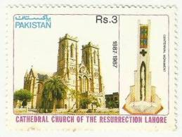 PAKISTAN 1987 MNH S.G 733 CATHEDRAL CHURCH OF RESURRECTION, LAHORE, CHRISTIAN, CHRISTIANITY, RELIGION, PLACE OF WORSHIP