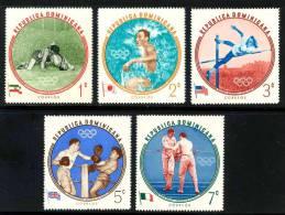 DOMINICANA - 1960-cat Yvert E Tellier Dal N°542 Al N°546-4 Valori Dentellati E 4 Valori Non Dentellati-nuovi Con Gomma - Dominique (1978-...)