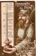 Guerre 14-18/Le Coeur Du Poilu / Thermométre Du Front/1916                         POIL12 - India