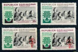 DOMINICANA-1960-Posta Aerea-cat Yvert E Tellier Dal N°142 Al N°145- 4 Valori Nuovi Con Gomma Intatta-serie Completa - Dominique (1978-...)